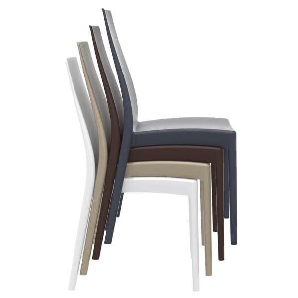 Chaise de jardin en polypropylène empilable - Miranda - 11