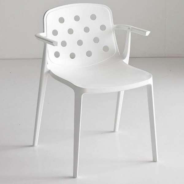 Chaise d'extérieur design avec accoudoirs en technopolymère - Isidora 2 - 2
