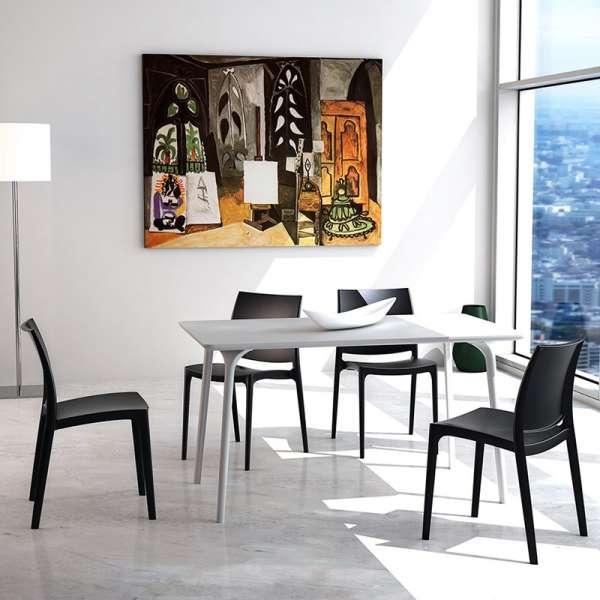 Chaise en plastique empilable - Maya - 3