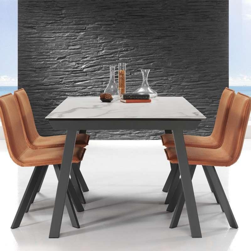 Table moderne extensible en c ramique benidorm - Table sejour moderne ...