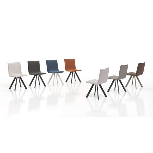 Chaise en tissu et métal - Denia - 2