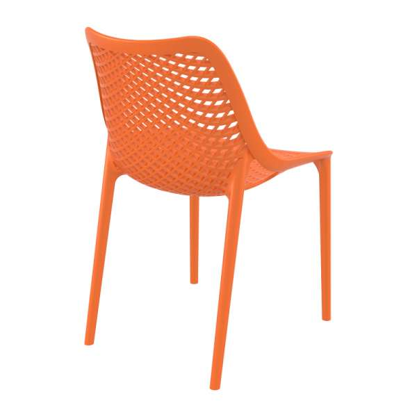 Chaise orange moderne ajourée en polypropylène - Air - 16