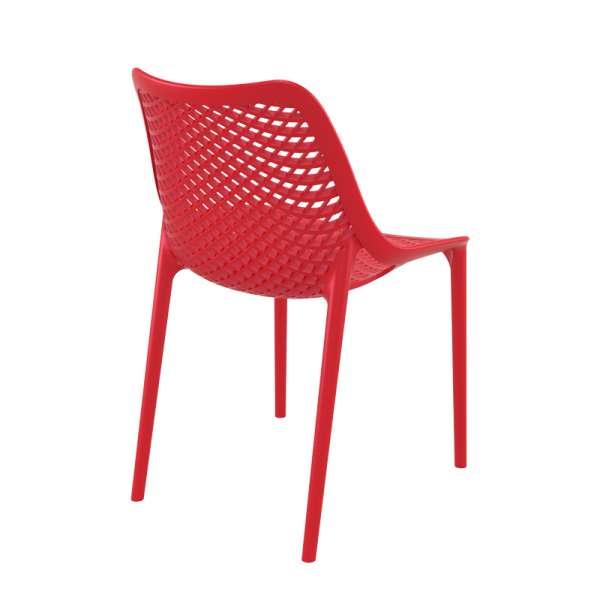 Chaise rouge ajourée en polypropylène - Air - 6