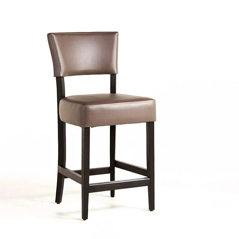Tabouret snack en bois et vinyl barsteffi 4 pieds tables chaises et ta - Tabouret snack 4 pieds ...