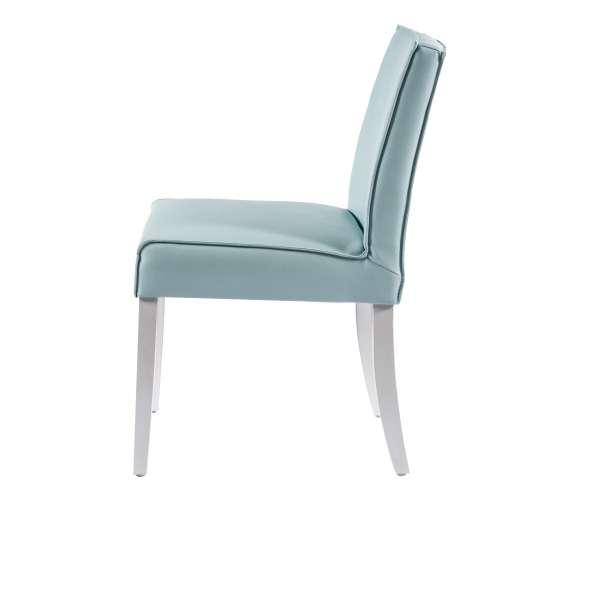 Chaise moderne en vinyle et bois - Carpe - 2