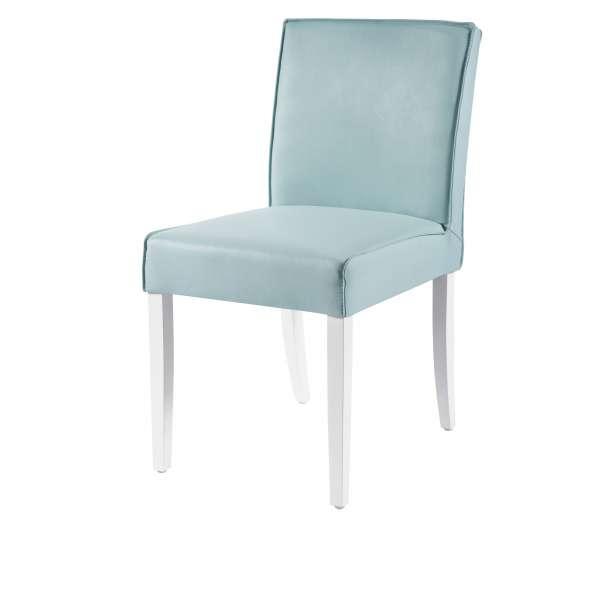 Chaise contemporaine en vinyle et bois - Carpe