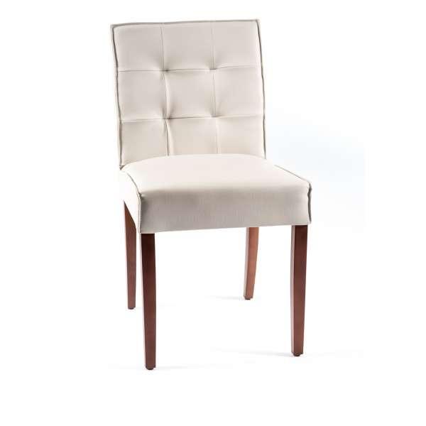 Chaise matelassée en vinyle et bois - Carpe 2