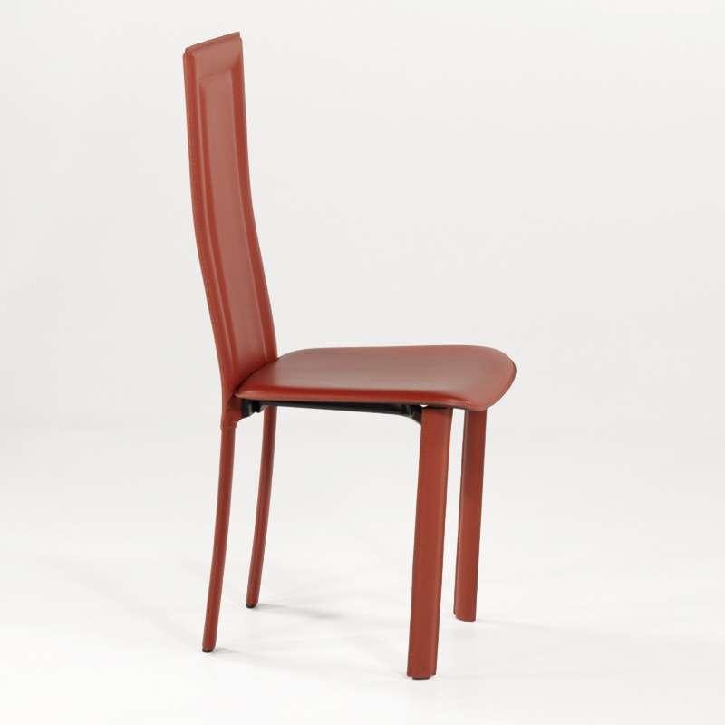Chaise de salle manger en cro te de cuir tess 4 - Chaise salle a manger cuir ...