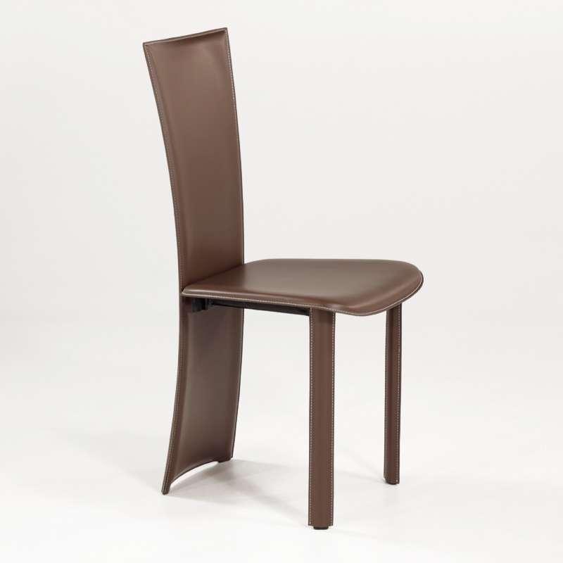 chaise contemporaine en cro te de cuir wally 4 pieds tables chaises et tabourets. Black Bedroom Furniture Sets. Home Design Ideas