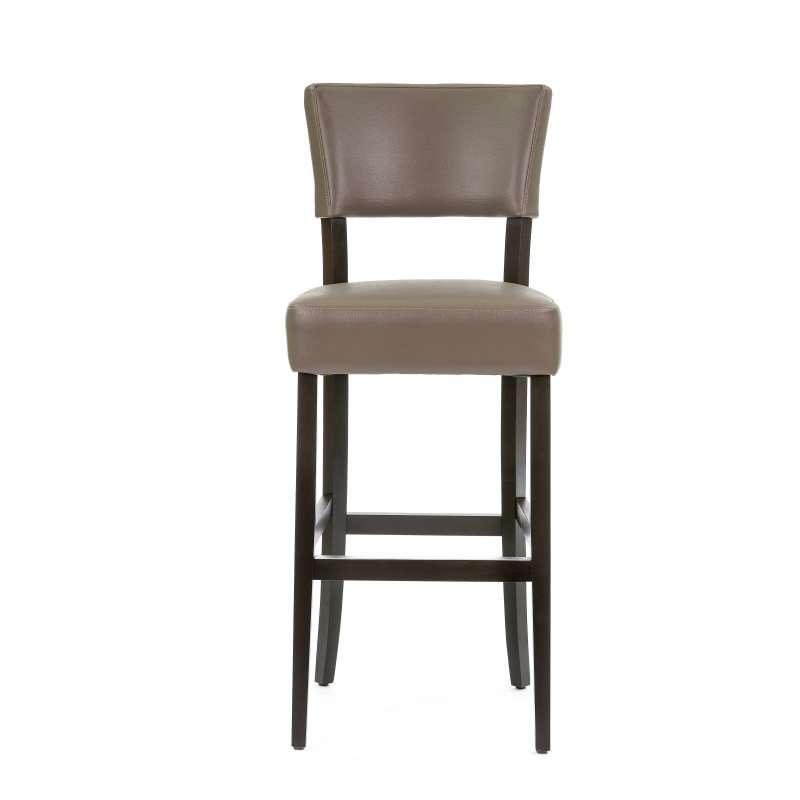 Tabouret de bar en bois et vinyl barsteffi 4 pieds tables chaises et t - Tabouret de bar wenge ...