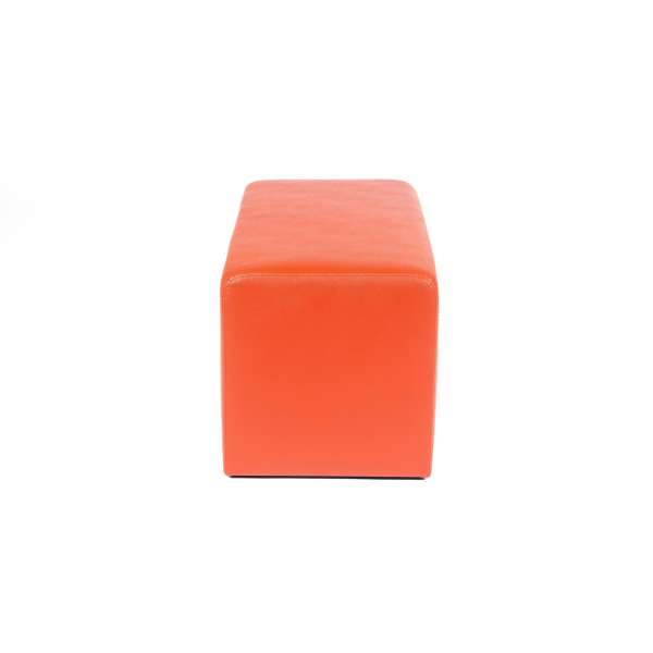 Pouf rectangulaire moderne orange - Max Q78 - 2