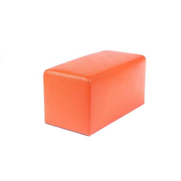 Pouf rectangulaire contemporain orange - Max Q78 - 3