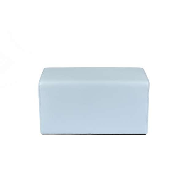 Pouf rectangulaire bleu gris - Max Q78 - 4