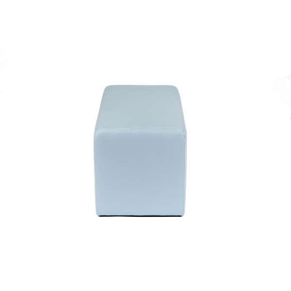 Pouf rectangulaire moderne bleu gris - Max Q78 - 5