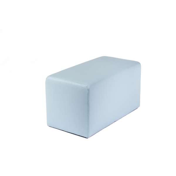 Pouf rectangulaire contemporain bleu gris - Max Q78 - 6