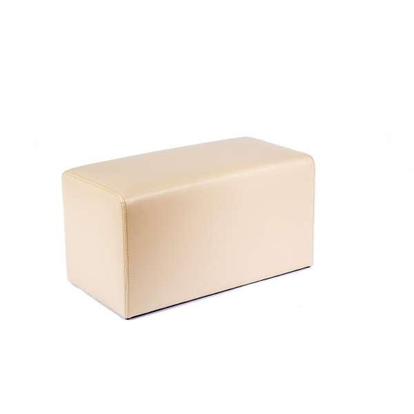 Pouf rectangulaire contemporain beige - Max Q78 - 15