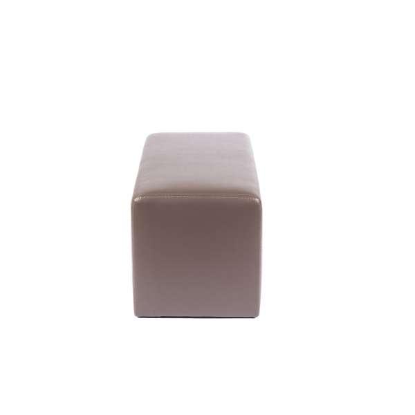Pouf rectangulaire moderne marron - Max Q78 - 17