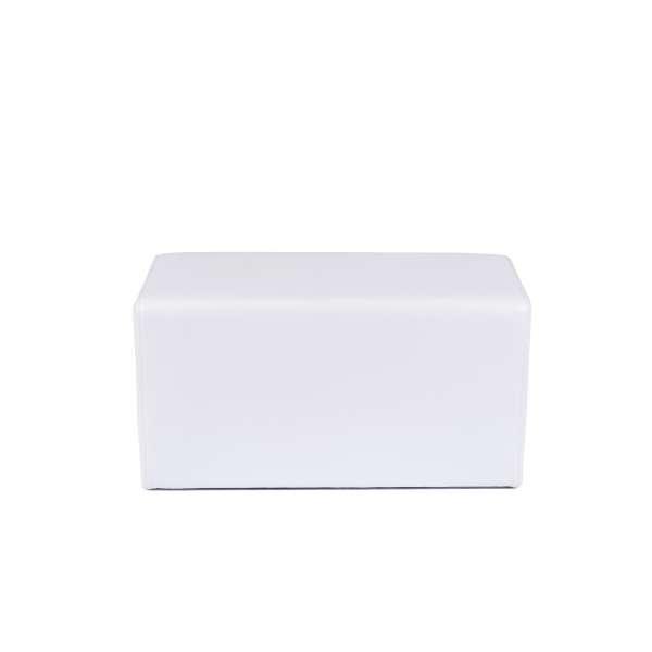 Pouf rectangulaire blanc - Max Q78 - 19