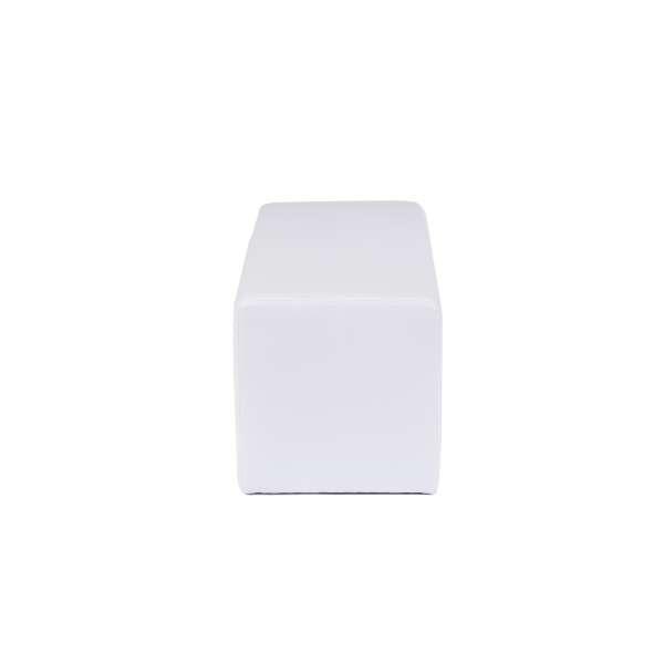 Pouf rectangulaire moderne blanc - Max Q78 - 20