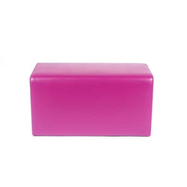 Pouf rectangulaire magenta - Max Q78 - 22