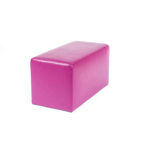 Pouf rectangulaire contemporain magenta - Max Q78 - 24