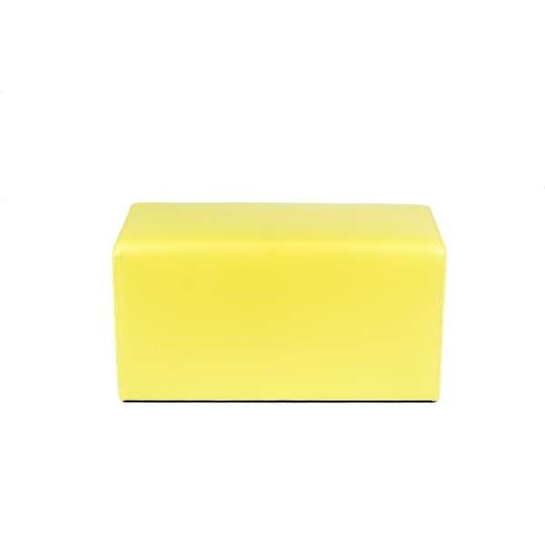Pouf rectangulaire jaune - Max Q78 - 25