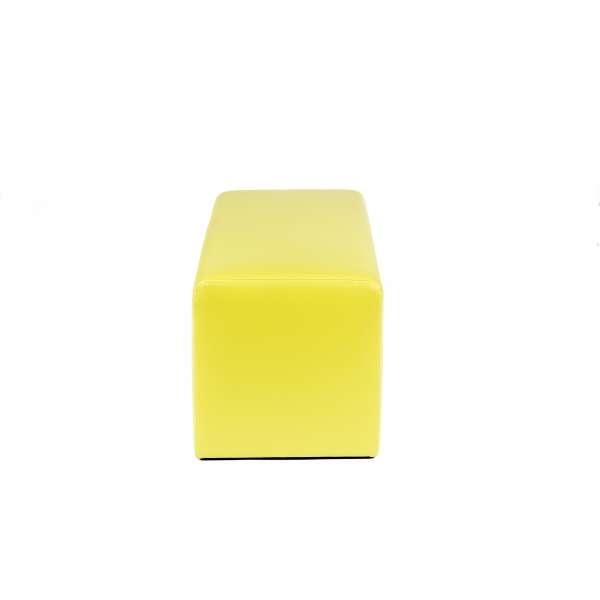 Pouf rectangulaire contemporain jaune - Max Q78 - 26