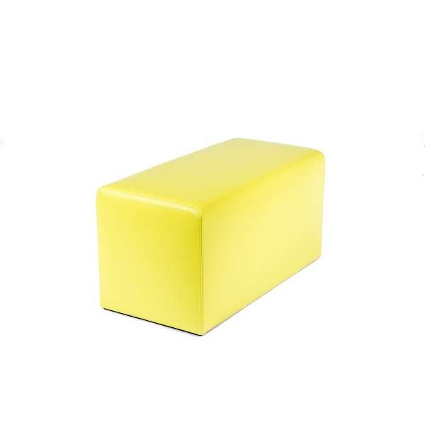 Pouf rectangulaire moderne jaune - Max Q78 - 27