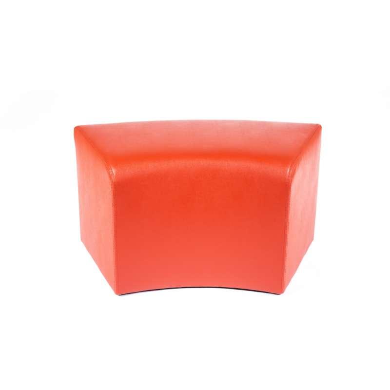 pouf rectangulaire courb en vinyl max c1 8 4 pieds tables chaises et tabourets. Black Bedroom Furniture Sets. Home Design Ideas