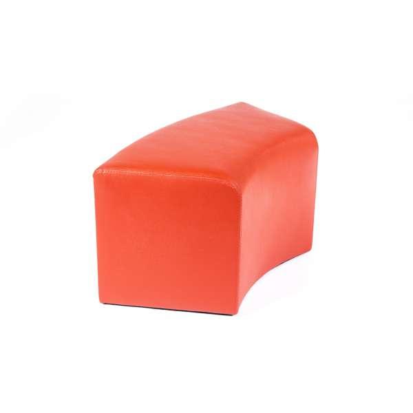 Pouf rectangulaire courbé contemporain orange - Max C1-8 - 2
