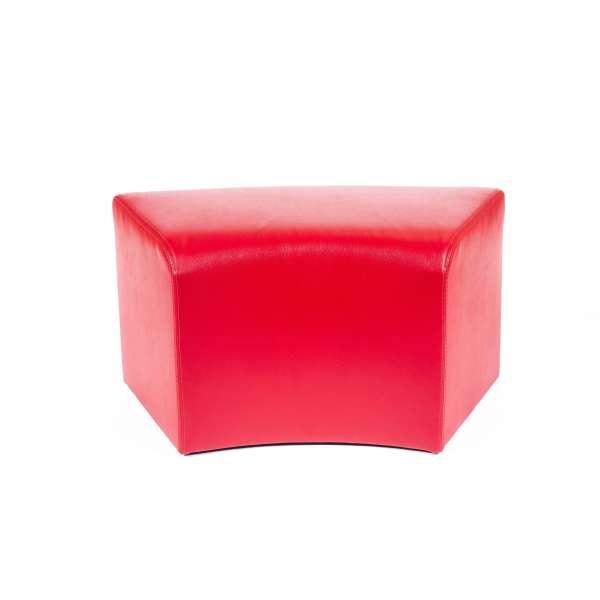 Pouf rectangulaire courbé rouge - Max C1-8 - 6