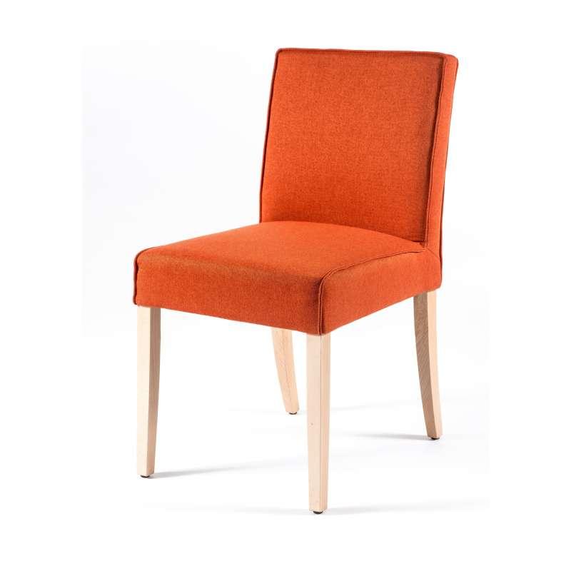 chaise contemporaine en tissu et bois carpe 4 pieds. Black Bedroom Furniture Sets. Home Design Ideas