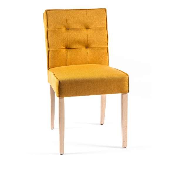 Chaise matelassée en tissu et bois - Carpe 2