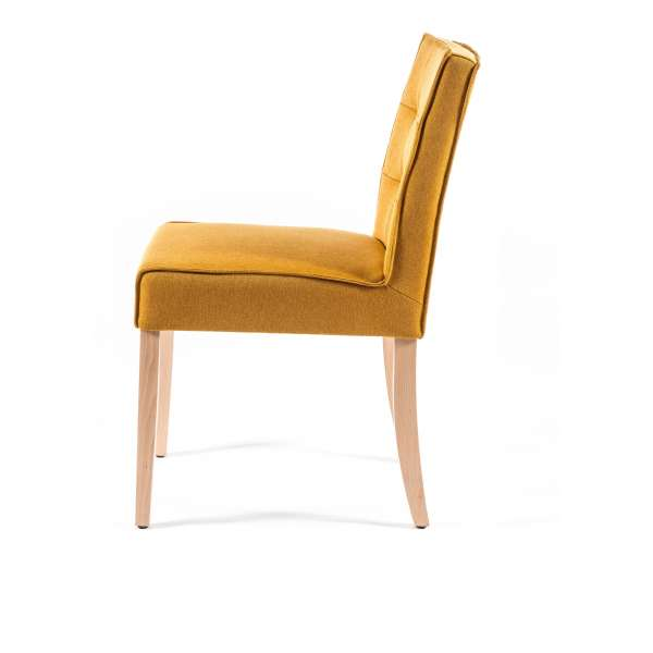 Chaise moderne matelassée en tissu et bois - Carpe - 3