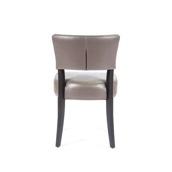 Chaise contemporaine en vinyl et bois - Steffi - 2