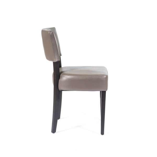 Chaise moderne en vinyle et bois - Steffi - 3