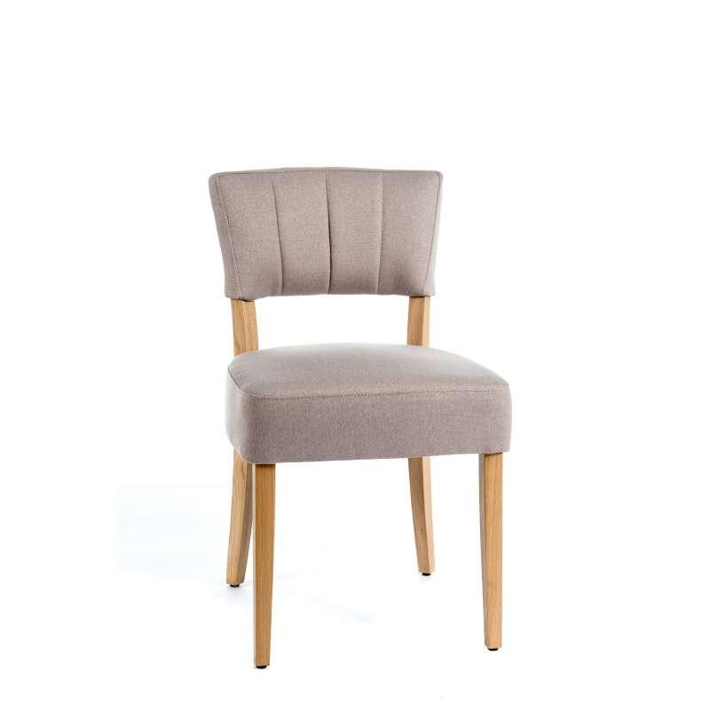 Chaise matelass e en tissu et bois steffi 2 4 pieds for Chaise un pied