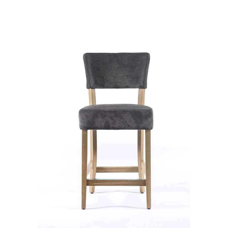 tabouret snack en tissu et bois barsteffi 4 pieds tables chaises et tabourets. Black Bedroom Furniture Sets. Home Design Ideas