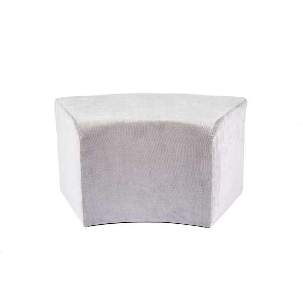 Pouf rectangulaire courbé en tissu - Max C1-8