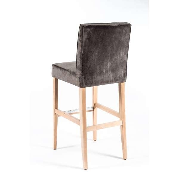 Tabouret bar contemporain en tissu et bois - BarCarpe - 2