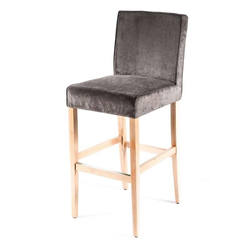 Tabouret de bar en tissu et bois barcarpe 4 pieds tables chaises et ta - Tabouret de bar en tissu ...
