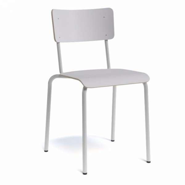 Chaise vintage bois et métal- Collège - 4