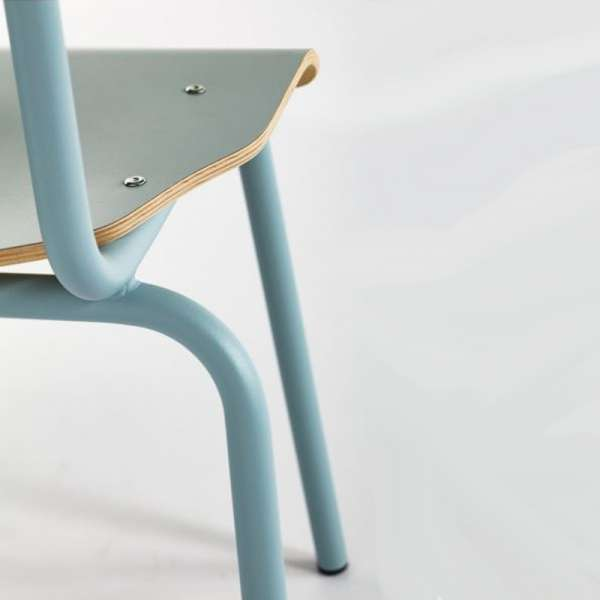 Chaise métal et bois - Collège - 8