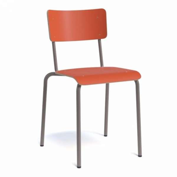 Chaise vintage métal et bois - Collège - 2
