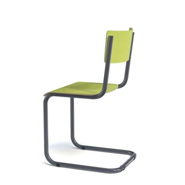 Chaise en bois et métal - Vintage - 4