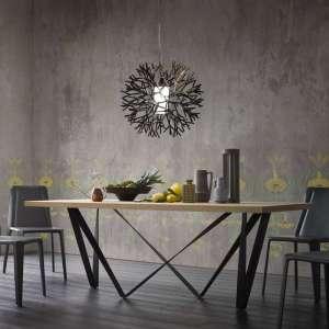 Table de salle à manger design en métal et bois - Wave