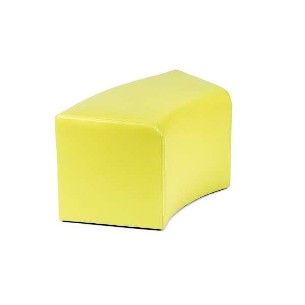 Pouf rectangulaire courbé jaunen - Max C1-8 - 15