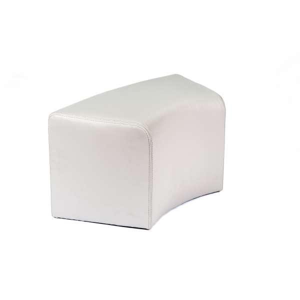 Pouf blanc en vinyl - Max C1-8 - 19