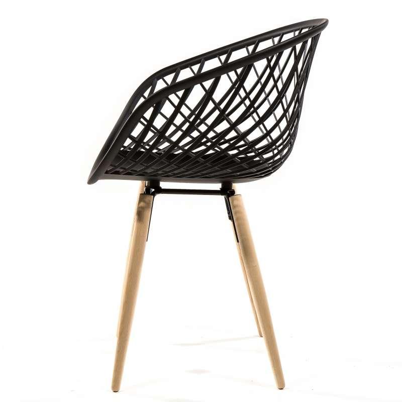 Chaise design en polypropyl ne et bois naturel sidera 4 pieds tables c - Chaise en polypropylene ...
