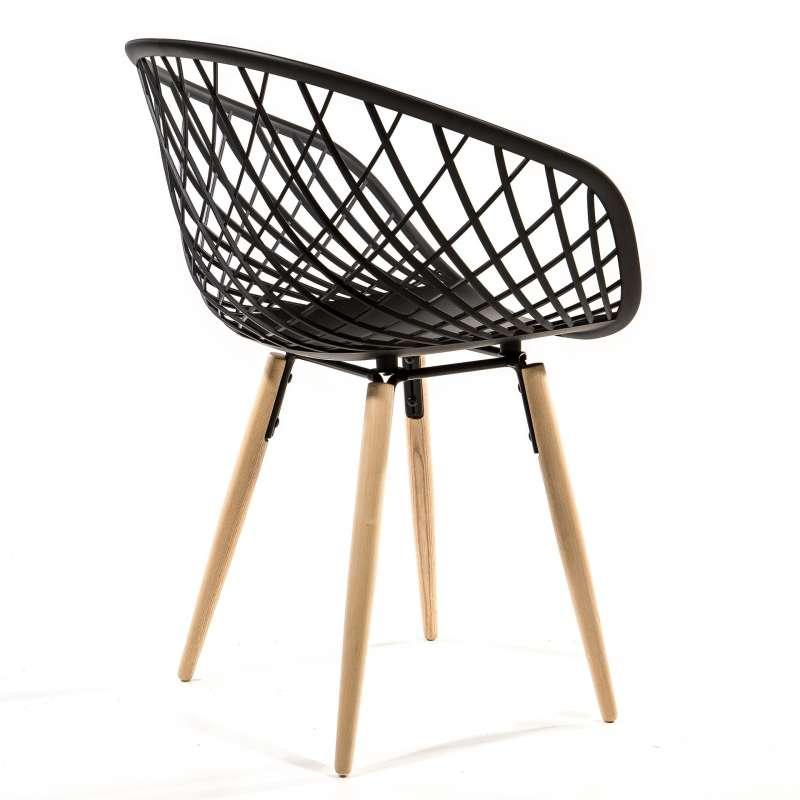 Chaise design en polypropyl u00e8ne et bois naturel Sidera 4 Pieds tables, chaises et tabou # Chaise Polypropylène Et Bois